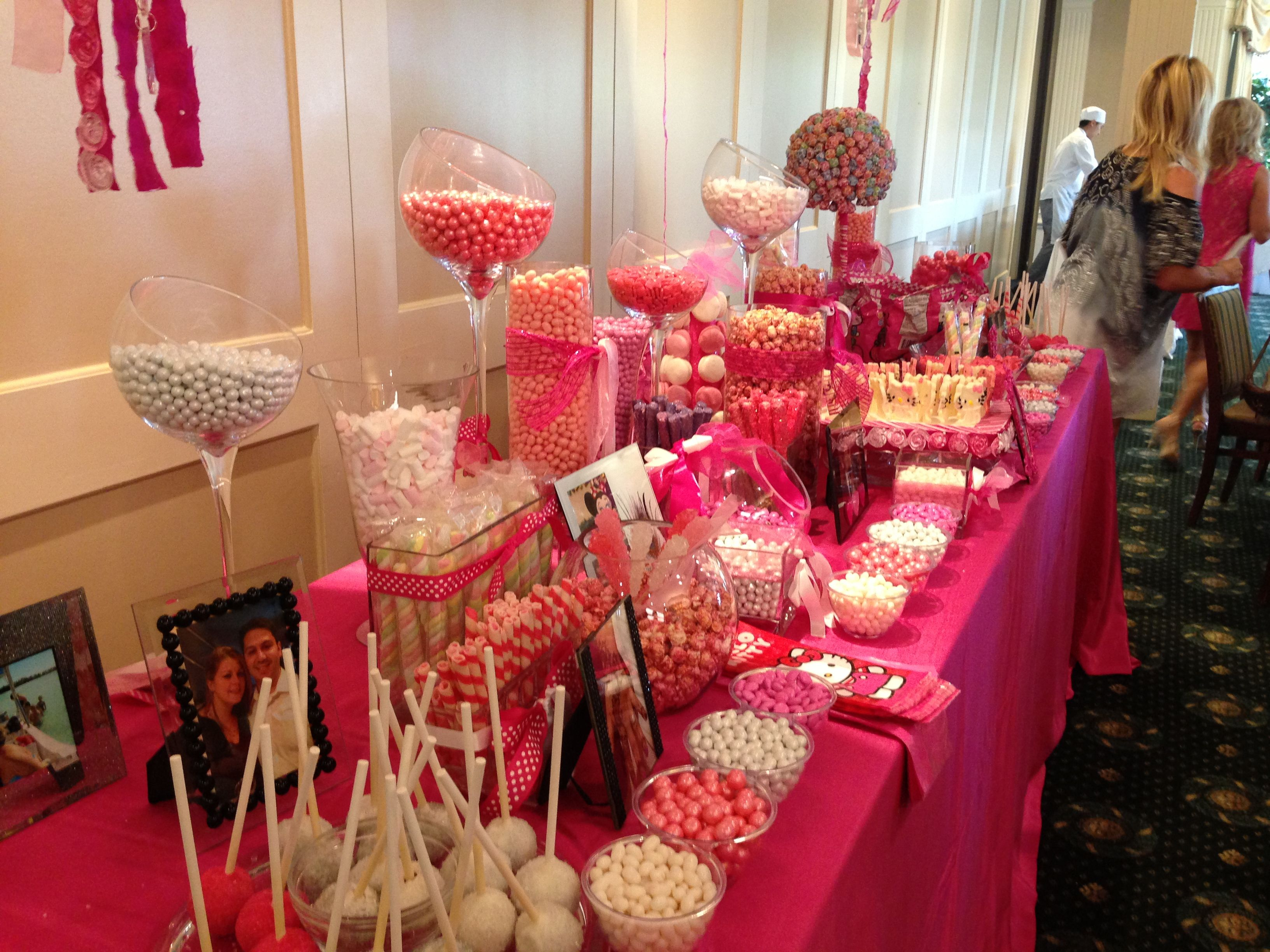 Hello kitty bridal shower-candy bar | Showering the bride | Pinterest