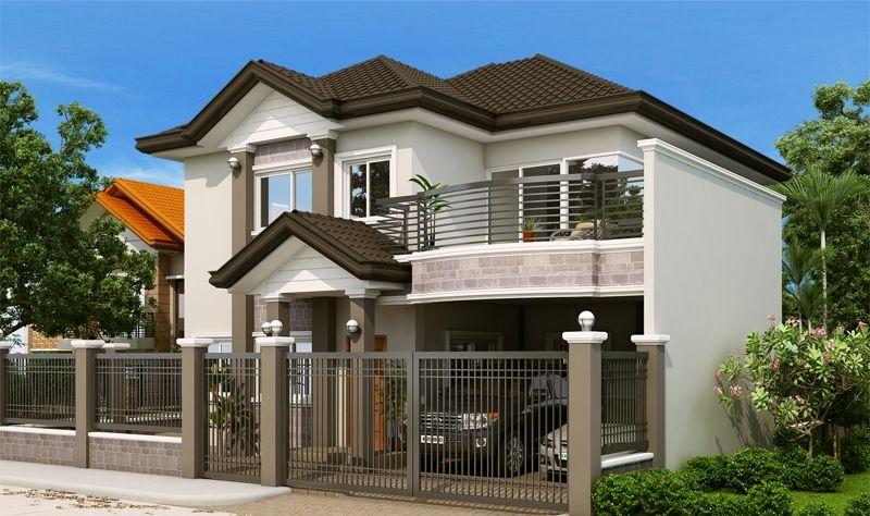 Double Story Elegant Filipino House Plan Modern Filipino House Traditional House Plans Filipino House