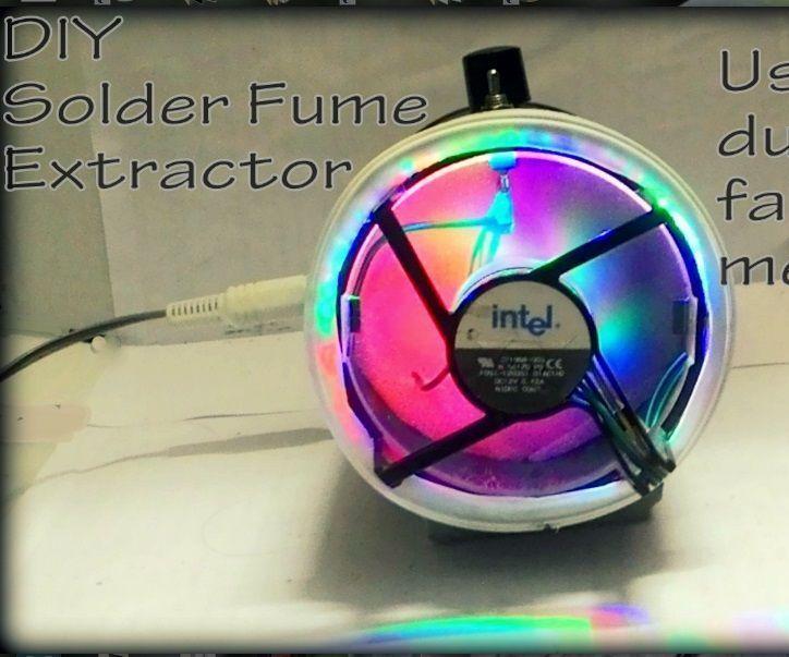 Diy powerful solder fume extractor diy soldering heavy