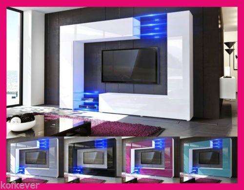 Mobile Tv Moderno Led : Mobile moderno tavolo porta tv laccato lucido legno salotto