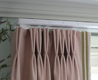 Double Pinch Pleat Linen Union Curtains On Track And Pelmet Board Curtains Custom Drapes Drapes And Blinds