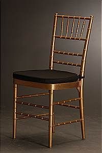 Gold Chiavari Chair With Black Pad Denver Party Time - Table pads denver