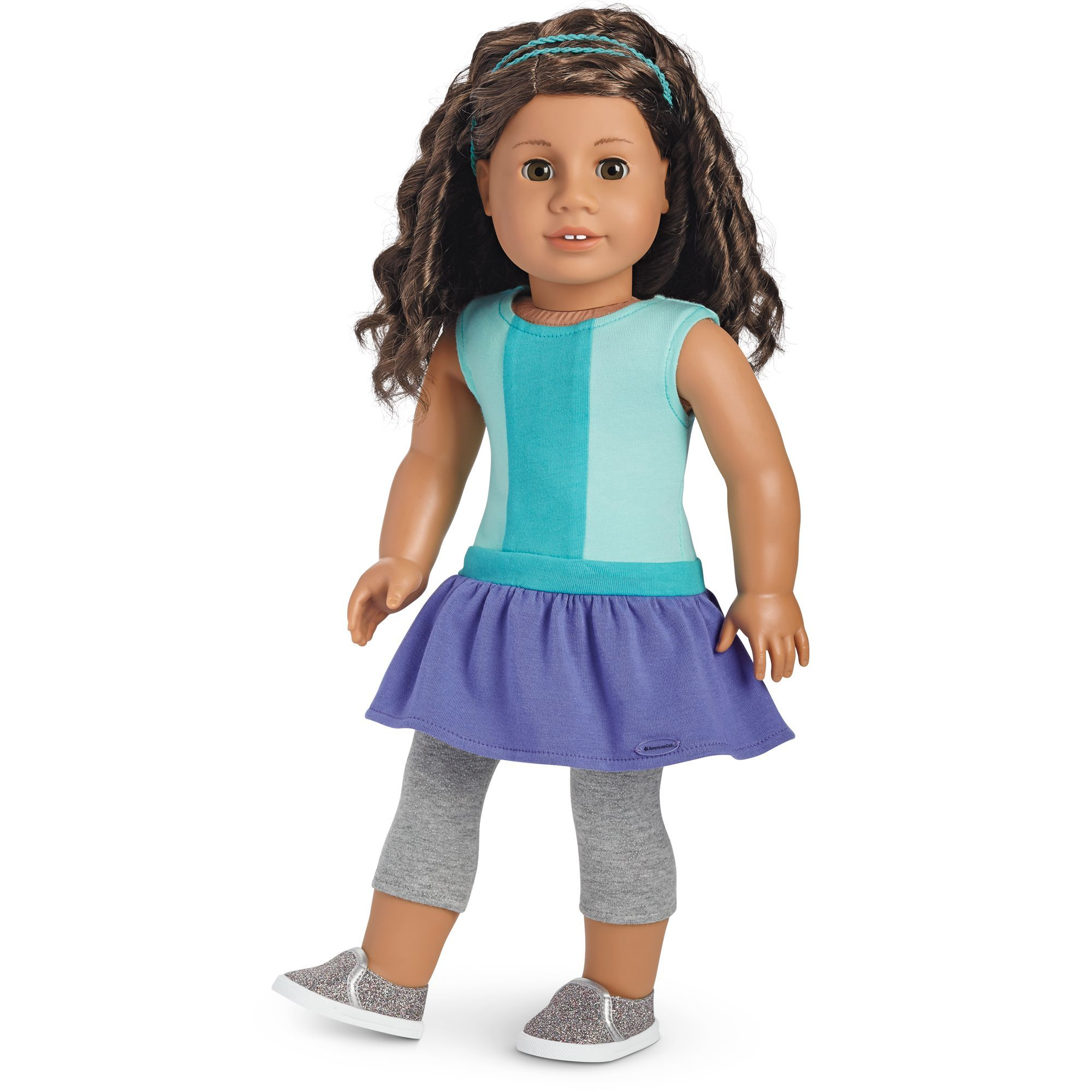 american girl color block dress