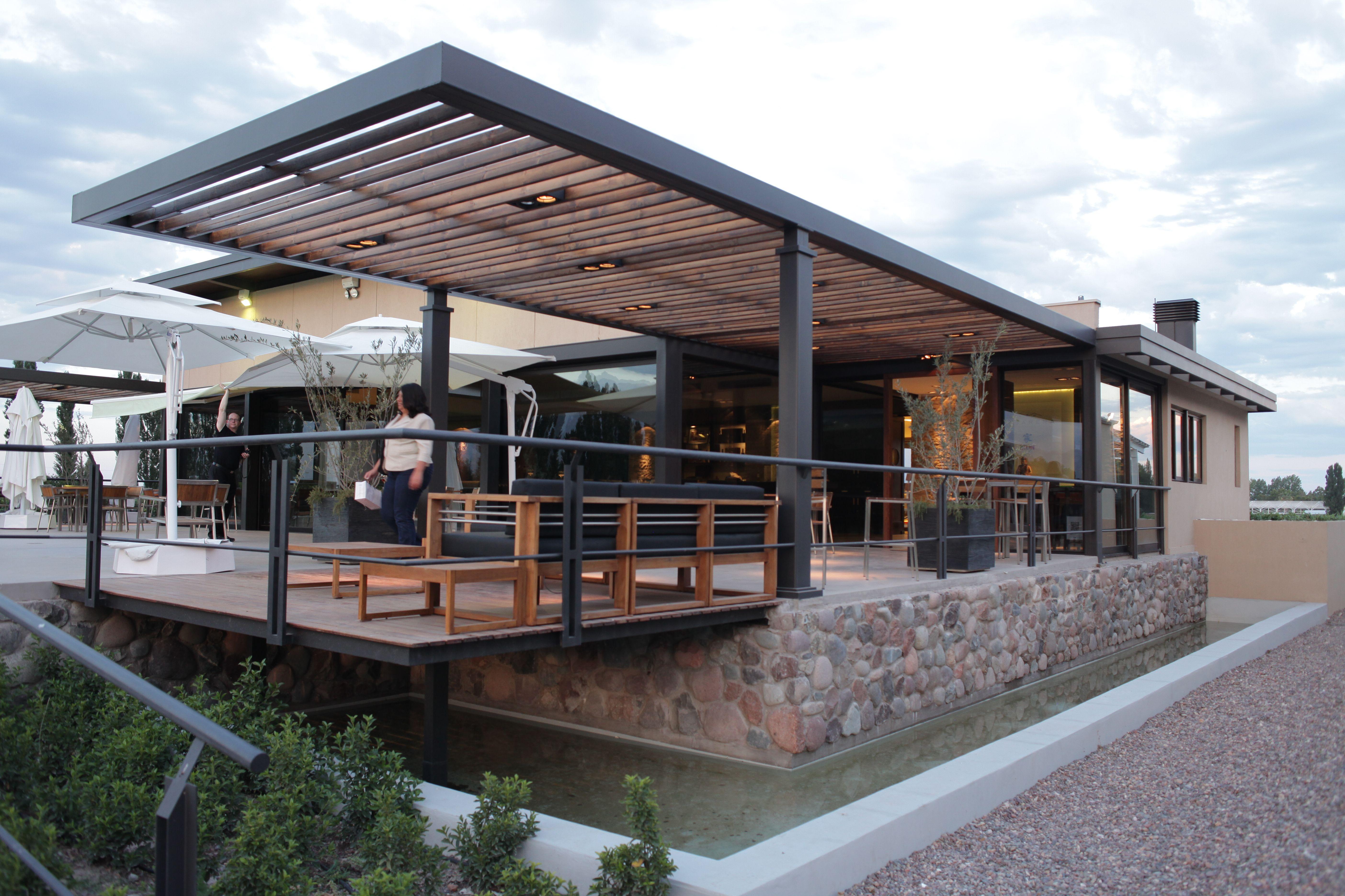 Techo de madera de canto con a r110 galeria garage - Madera para porches ...
