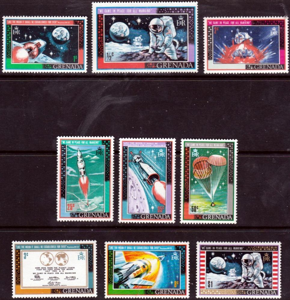 Grenada 1969 First Man On The Moon SG 348 Fine Mint Scott 428 Other Stamps HERE