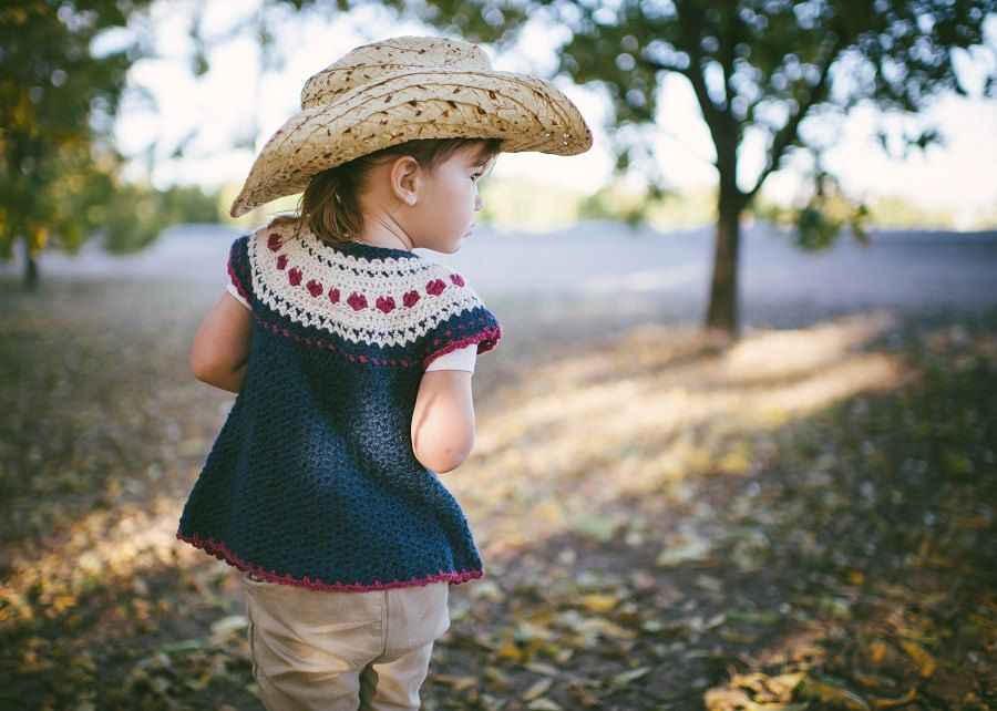 Valentines Crochet Pattern for Girls Fair Isle Sweater in 5 sizes ...