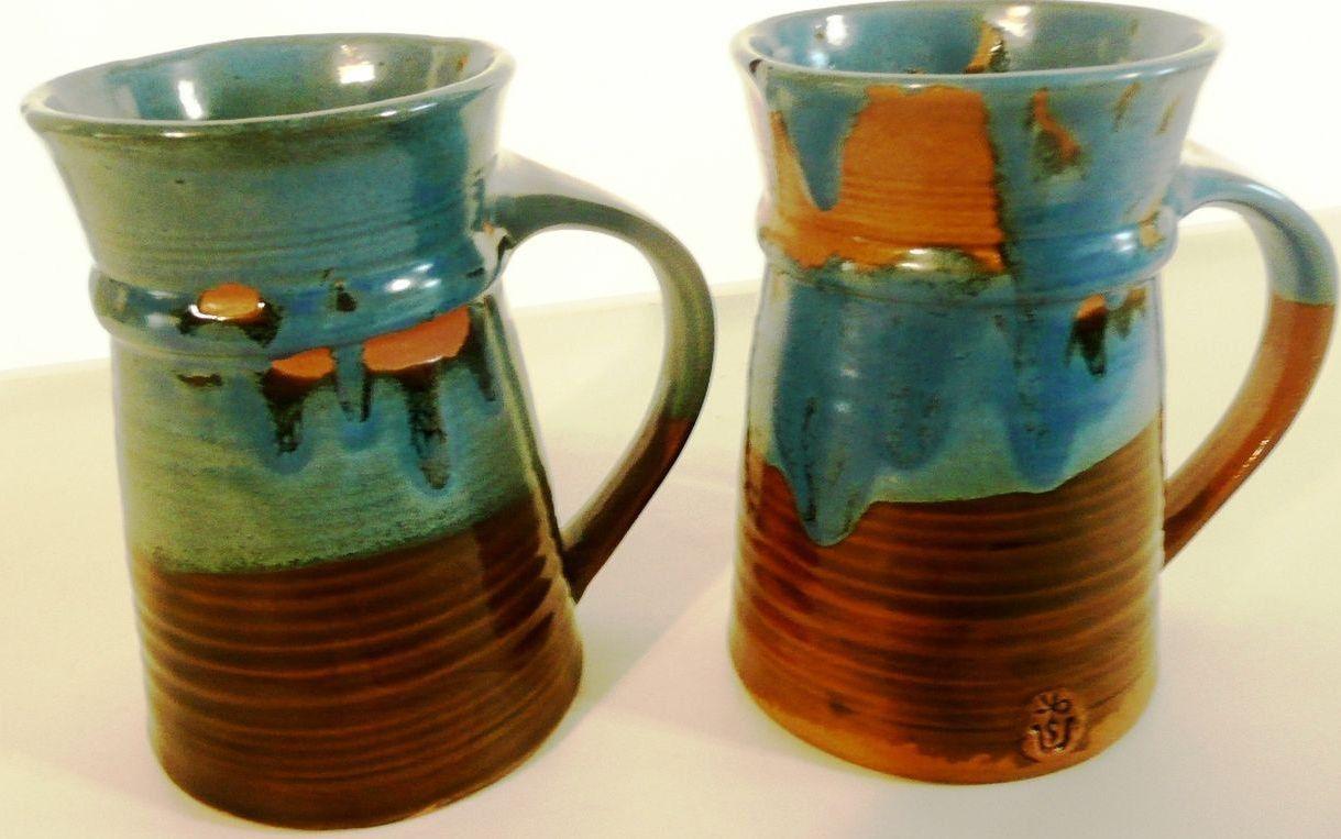 1968 pacific stoneware mug set 2 large ceramic pottery