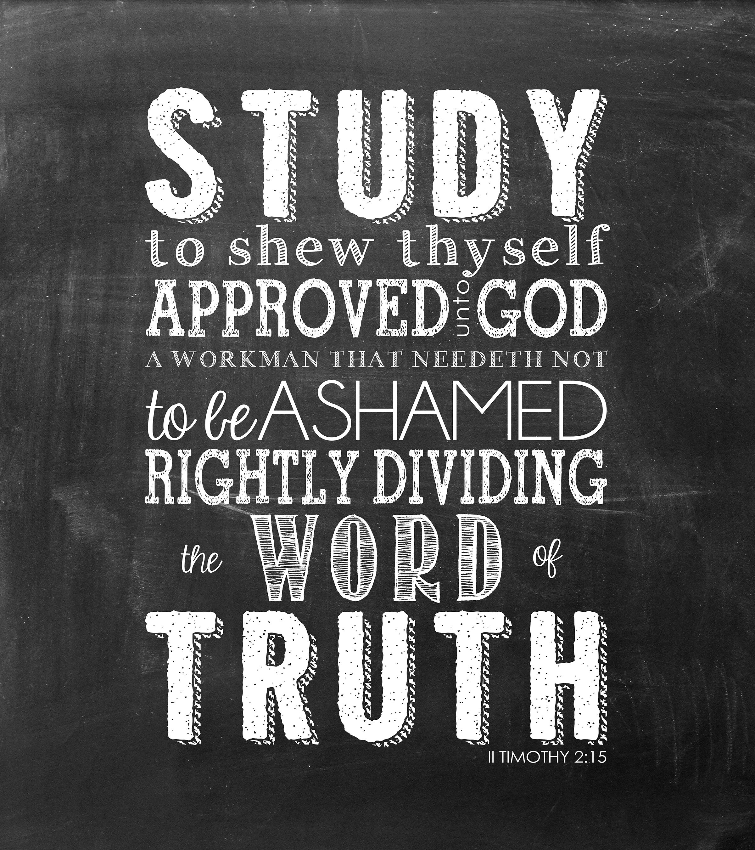 Free Chalkboard Template For Word Printable Verse Study To Shew Thyself Approved Unto