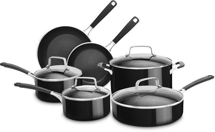 Kitchen Aid Kitchenaid 10 Pc Aluminum Nonstick Cookware Set