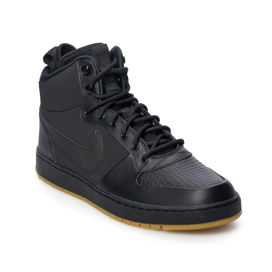buy popular ee7d0 06c2c Nike Ebernon Mid Winter Men s Water Resistant Sneakers, Black