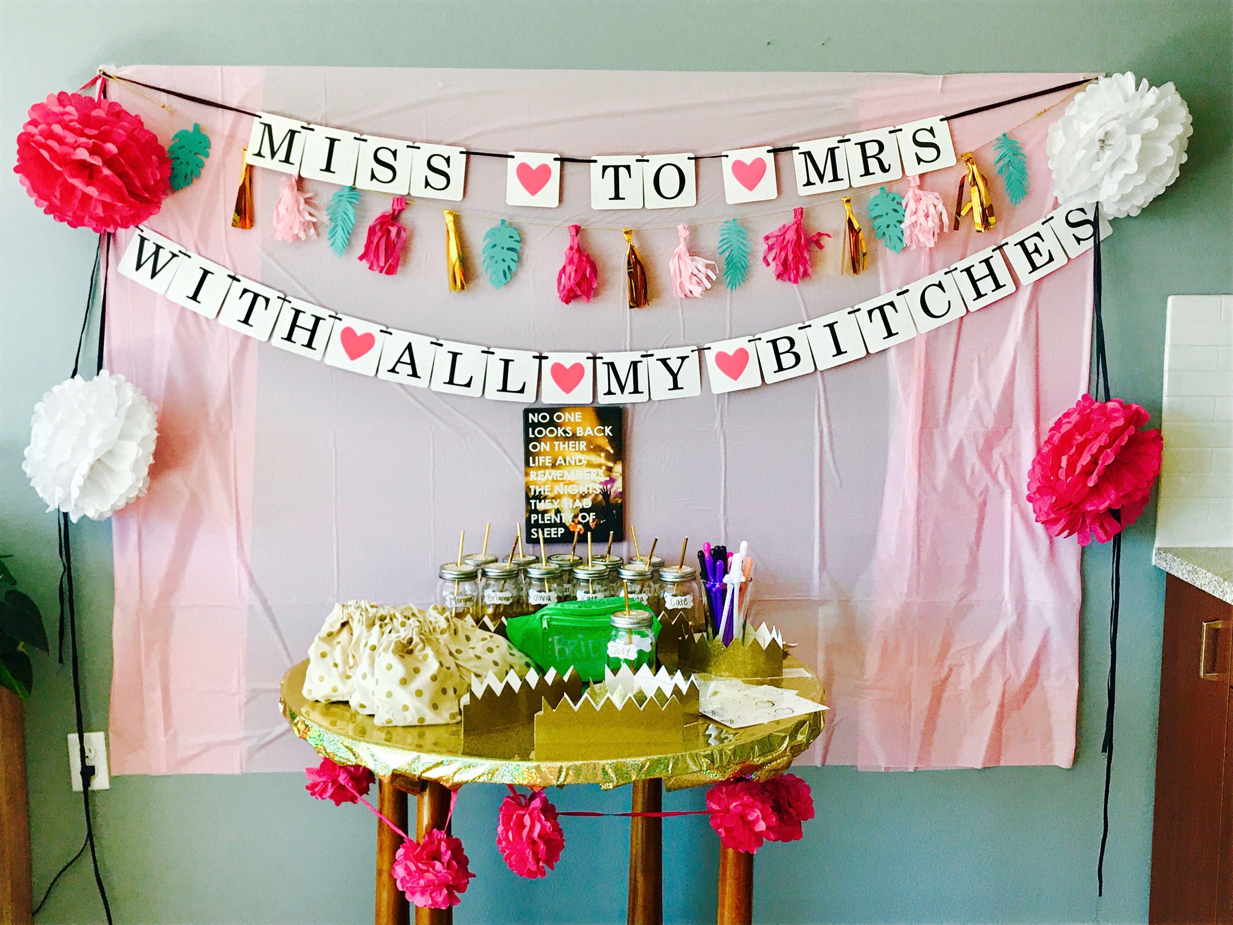 Diy Bachelorette Party Ideas Bachelorette Diy Diy Bachelorette Party Bachelorette Decorations Diy