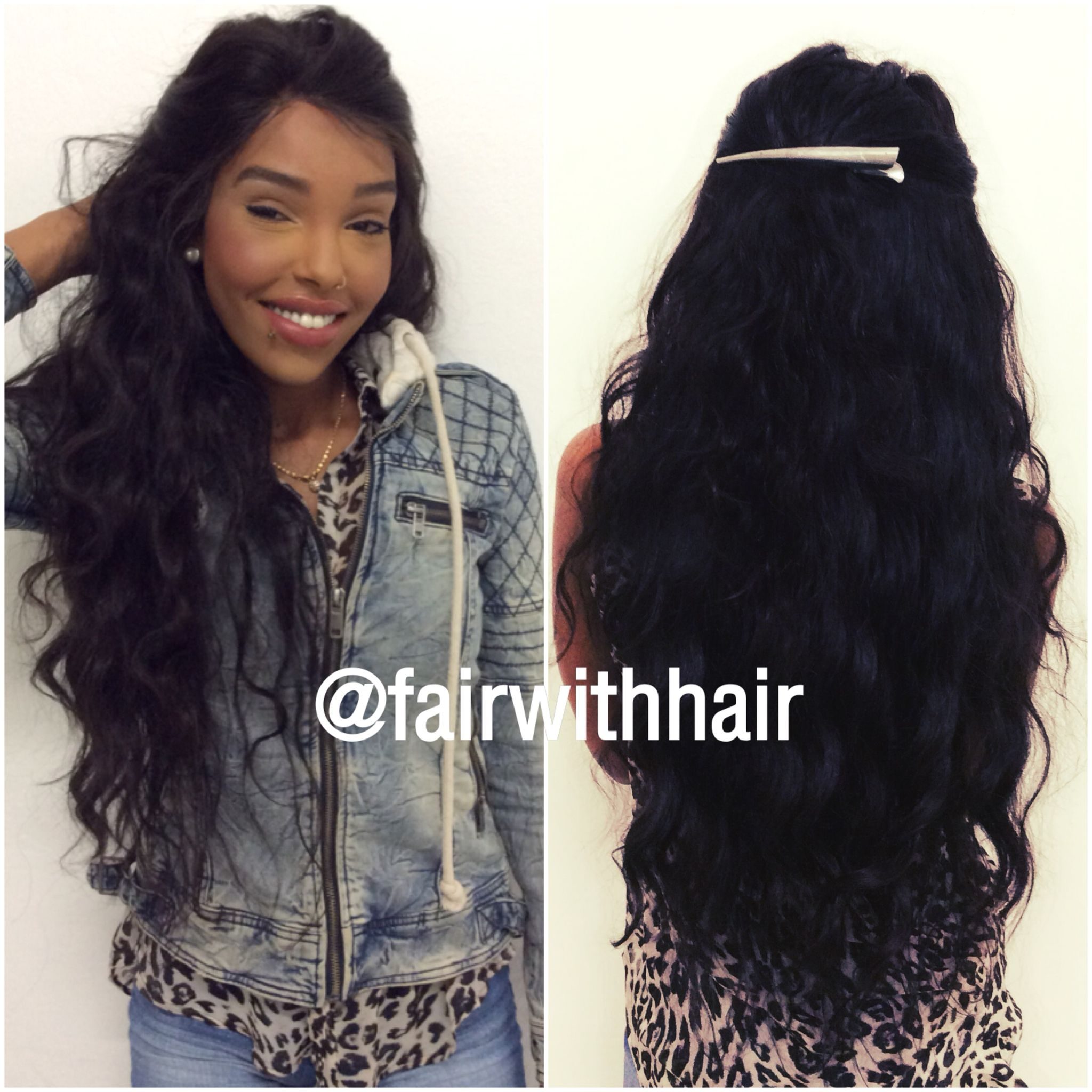 Weave With 360 Frontal And 2 Wavy 24 Inch Weft Hair Womens