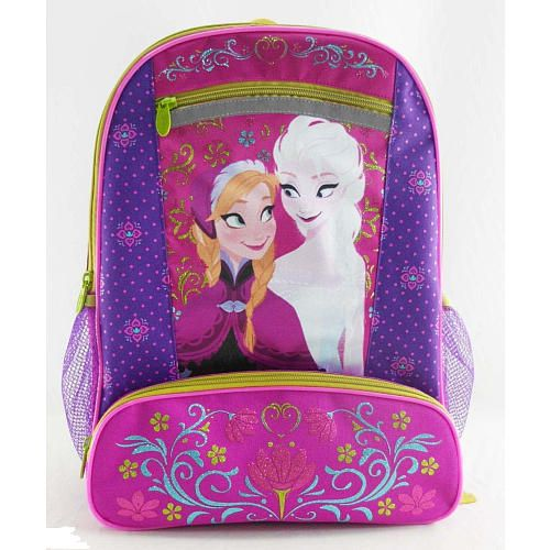 6dd9950cf36 Disney Frozen 16 inch Backpack - Berry Floral