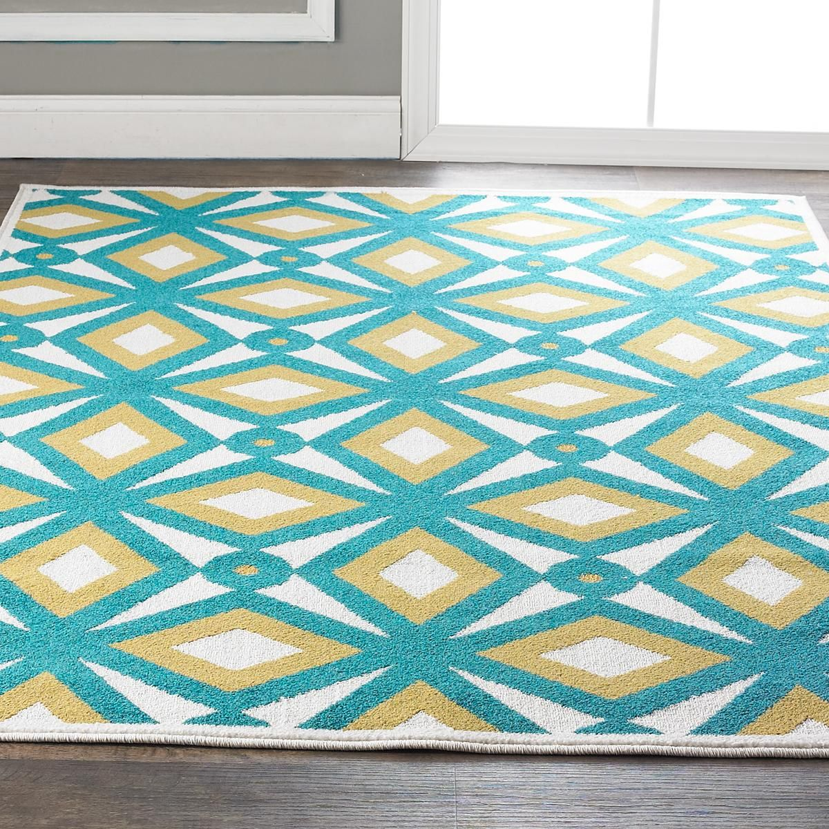 Modern Kaleidoscope Indoor Outdoor Rug A Retro Modern Kaleidoscope