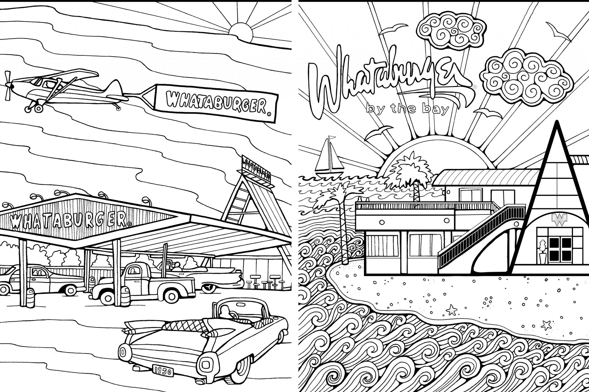 Pin on Whataburger Coloring Pages