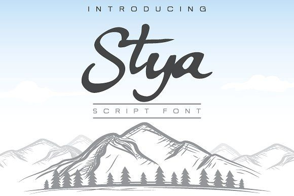 Stya Font by menangan studio on @creativemarket