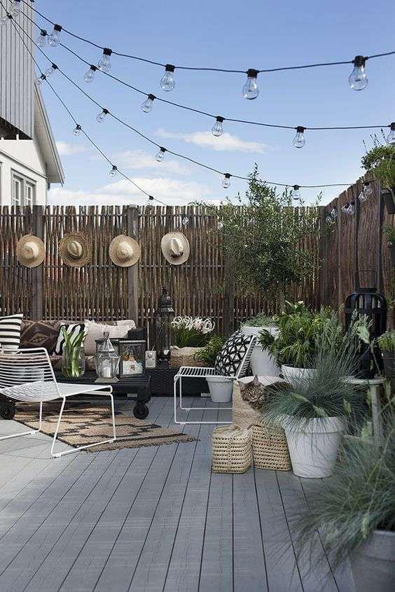 Come illuminare il terrazzo - Illuminazione originale | Pinterest ...