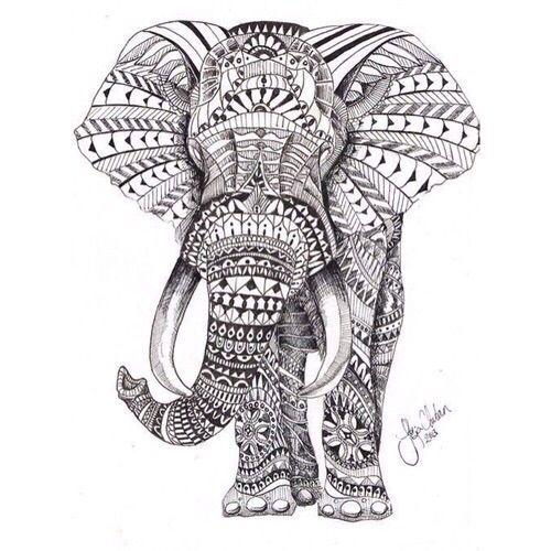 Pin By Henrieke T On Dibujos A Lapiz Y Digitales Mandala Elephant Tattoo Elephant Coloring Page Mandala Elephant