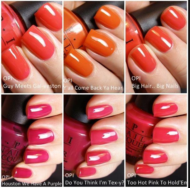 OPI Sorbet Collage   Sorbet, OPI and Nail polish collection