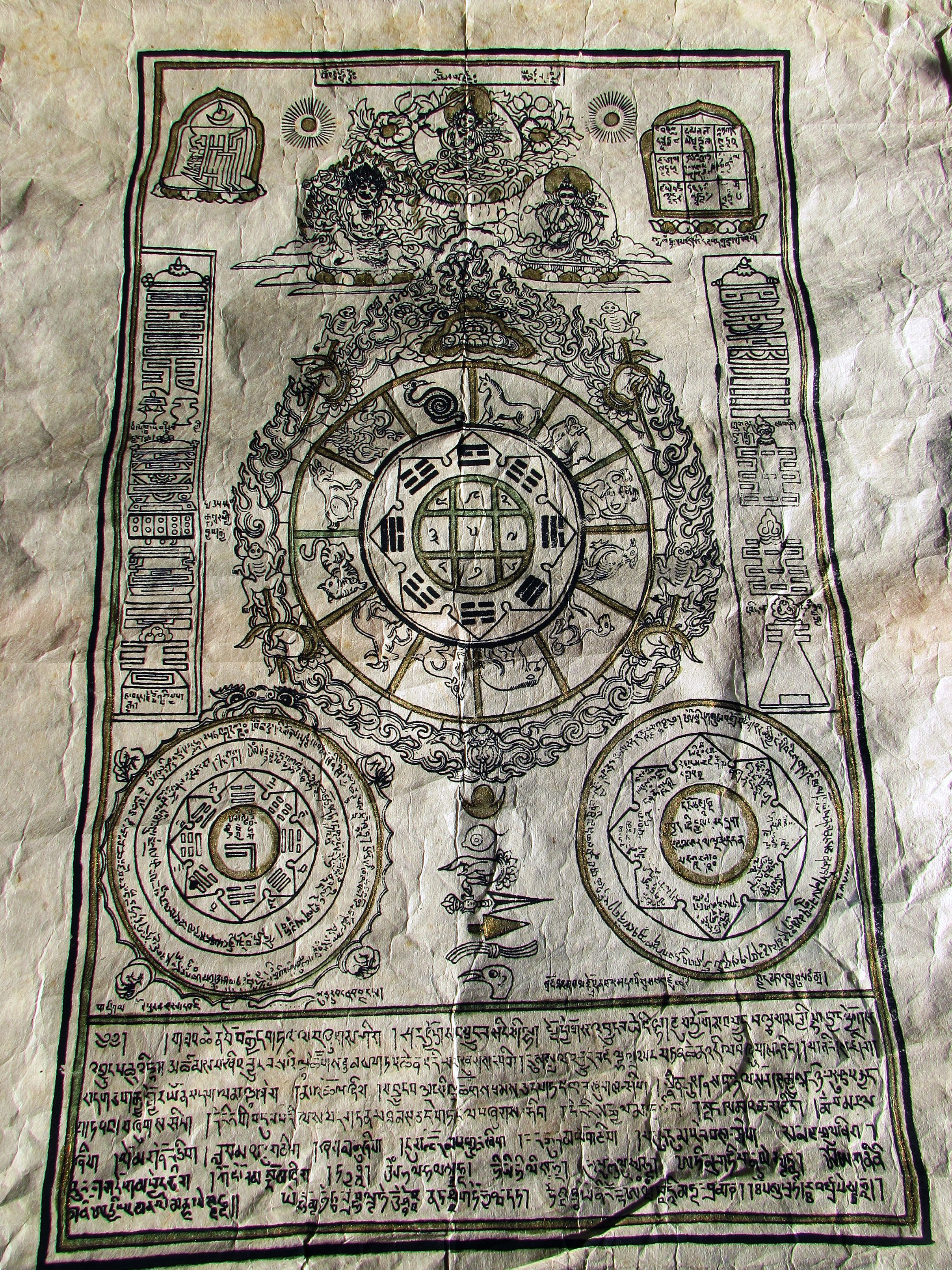 Calendario Tibetano.Calendario Tibetano Nepalese Da Kathmandu Nepal