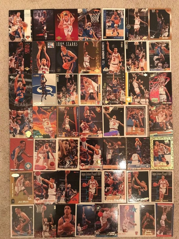 John Starks Mixed NBA 144 Card Lot Including Inserts