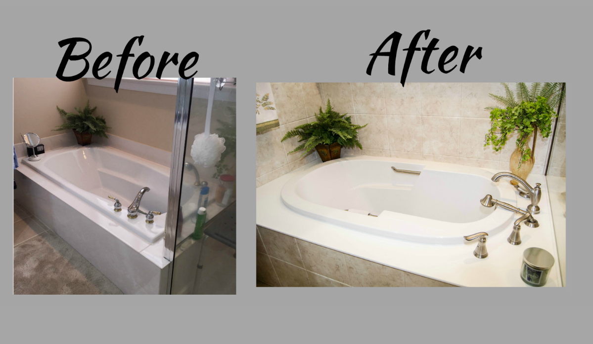 Bathroom Remodel Bathroom Makeover Bathroom Before And After Bathtub Replacement New Bathtub Bath Construction Brought To You By Re Bath Of Th Maison