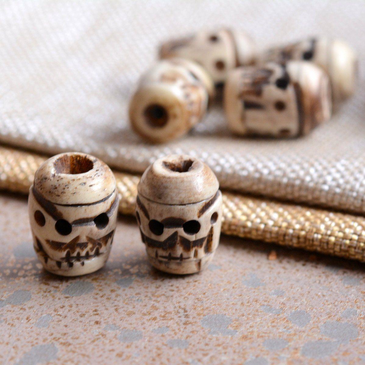 Bone Skull Beads Large Tibetan Skulls Antiqued Carved Bone Skull Beads Big Skull Beads Carved Bone Skull Mala Beads Foz17 0123l Beaded Skull Bone Beads Diy Jewelry Making Supplies