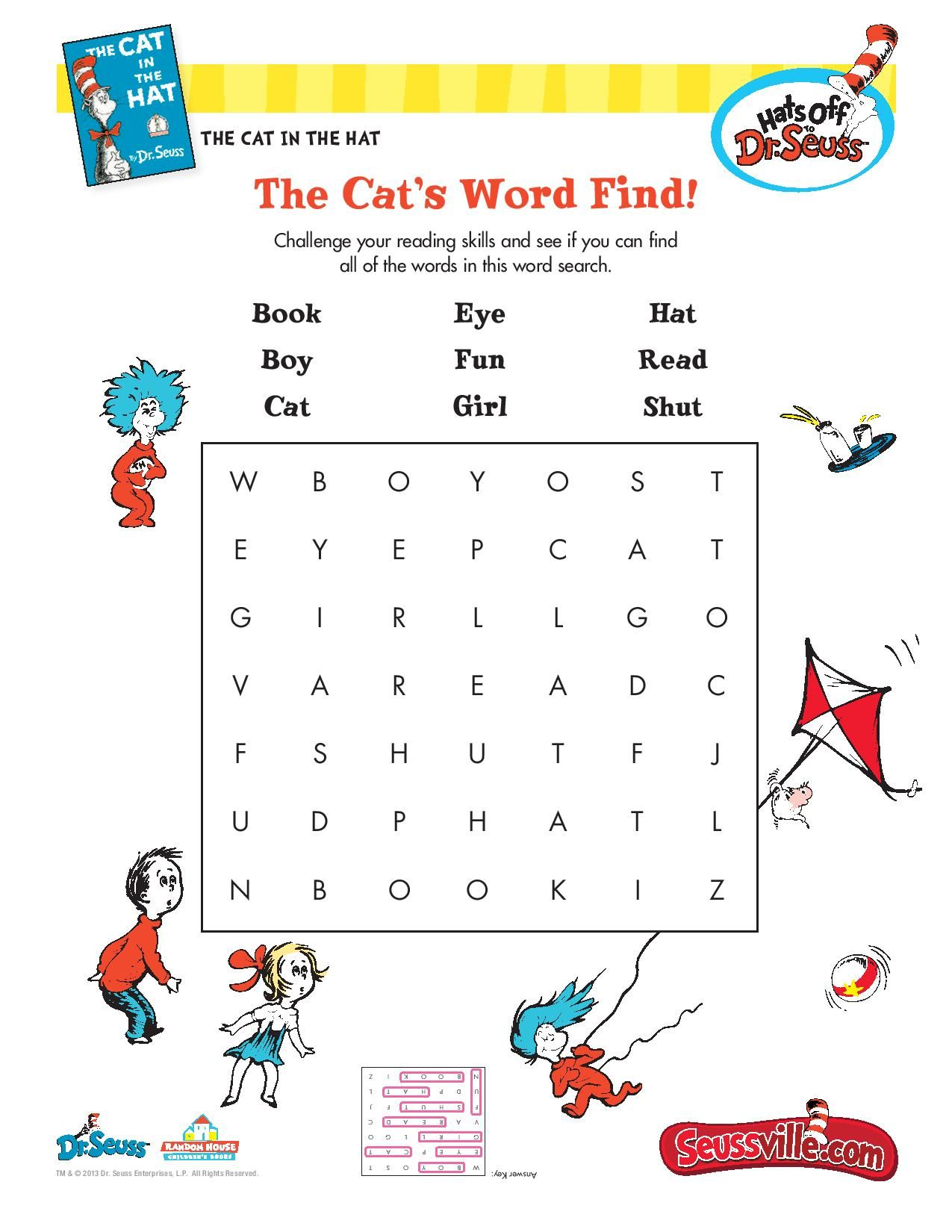 The Cat S Word Find