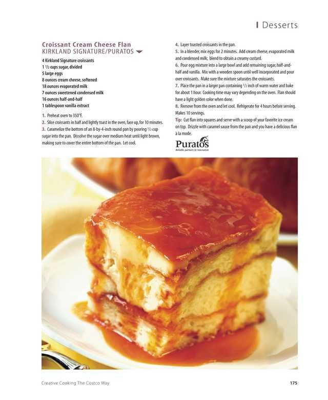 Croissant Cream Cheese Flan | Creative Cooking The Costco