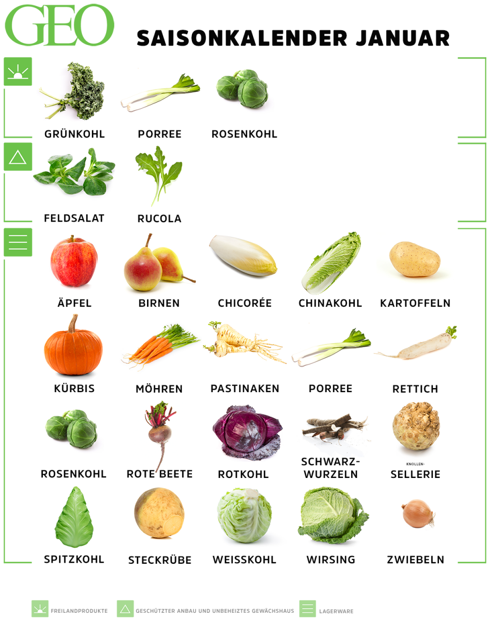 Saisonkalender: Obst & Gemüse im Januar #obstgemüse