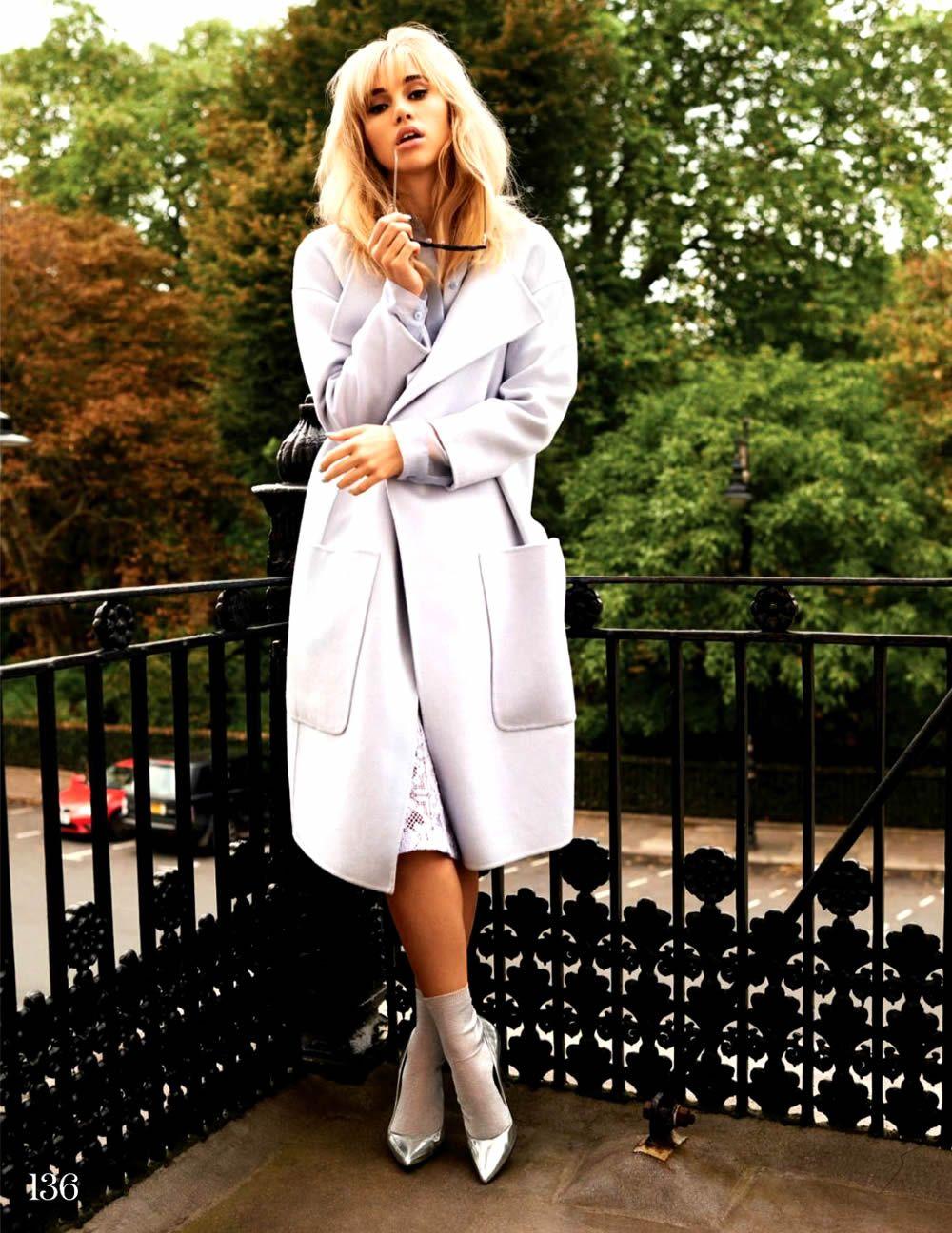 suki waterhouse elle uk 7 Elle UK January 2014   Suki Waterhouse by David Vasiljevic  [Cover+Editorial]