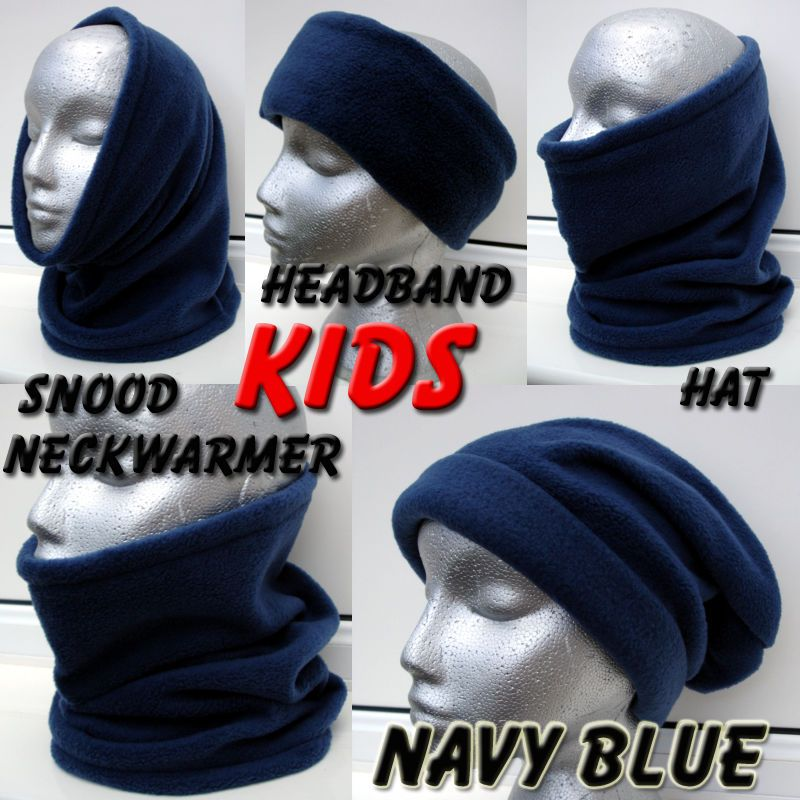 b07110ab8cf Kids BOYS GIRLS Blue Navy School SNOOD NECK WARMER scarf ski hat Skiing  child in Clothes