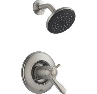 View The Delta T17t238 Lahara Tempassure 17t Series Dual Function Thermostatic Shower Trim Package With Touch Clean Shower H Shower Faucet Delta Faucets Faucet