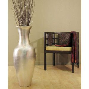 large chrome vase for floor - google search | let's redecorate the