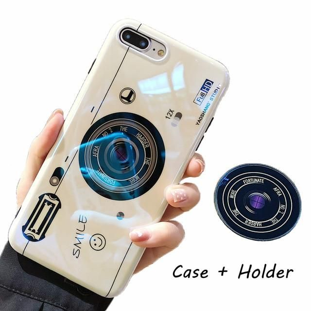 57253d3b54 Kickstand Phone Case For iPhone 6S 6 7 8 X XS Max Plus 10 Case Silicone Cute  Camera Stand Holder Cover For iPhone 6 S 6Plus Case