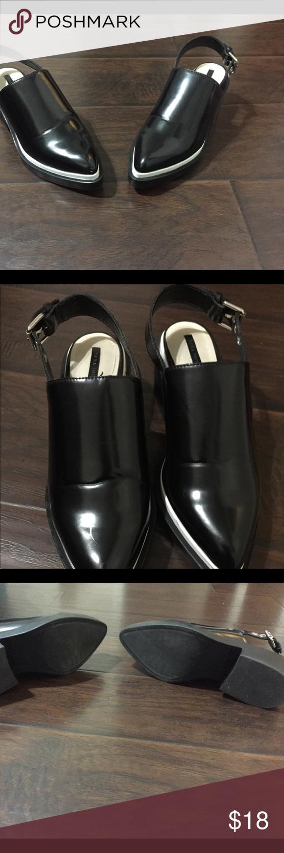 3ce861c0f51 EUC Zara TRF sling back shoes EUC Zara TRF Black sling back black shoes