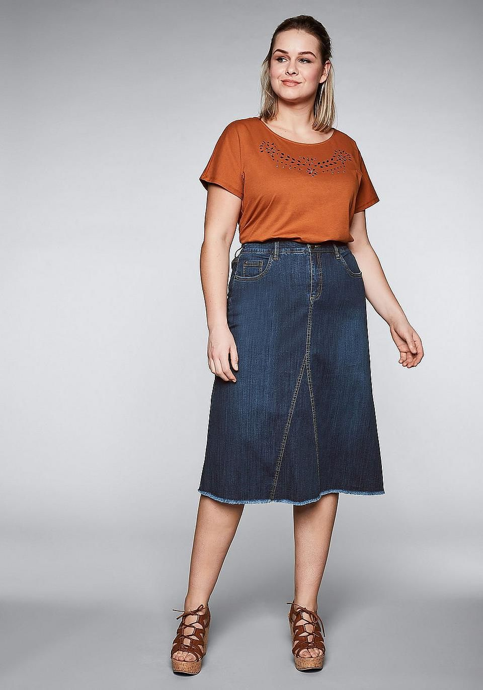 38477735a5fb Sheego Jeansrock online in 2019 | Curvy ♥ | BAUR | Jeans rock ...