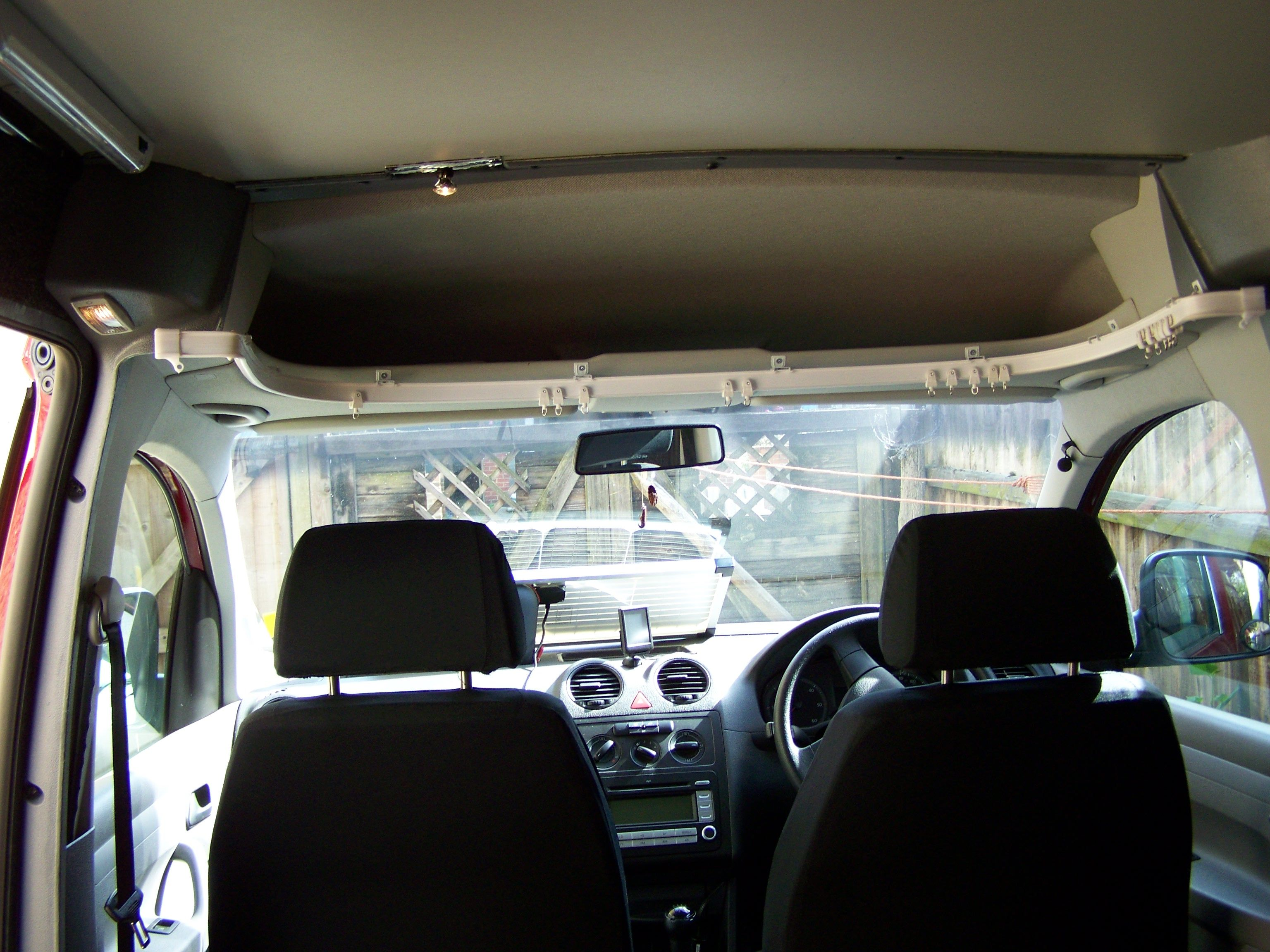 VW CADDY Solar camper curtain rail from inside | MY VW CADDY SOLAR ...