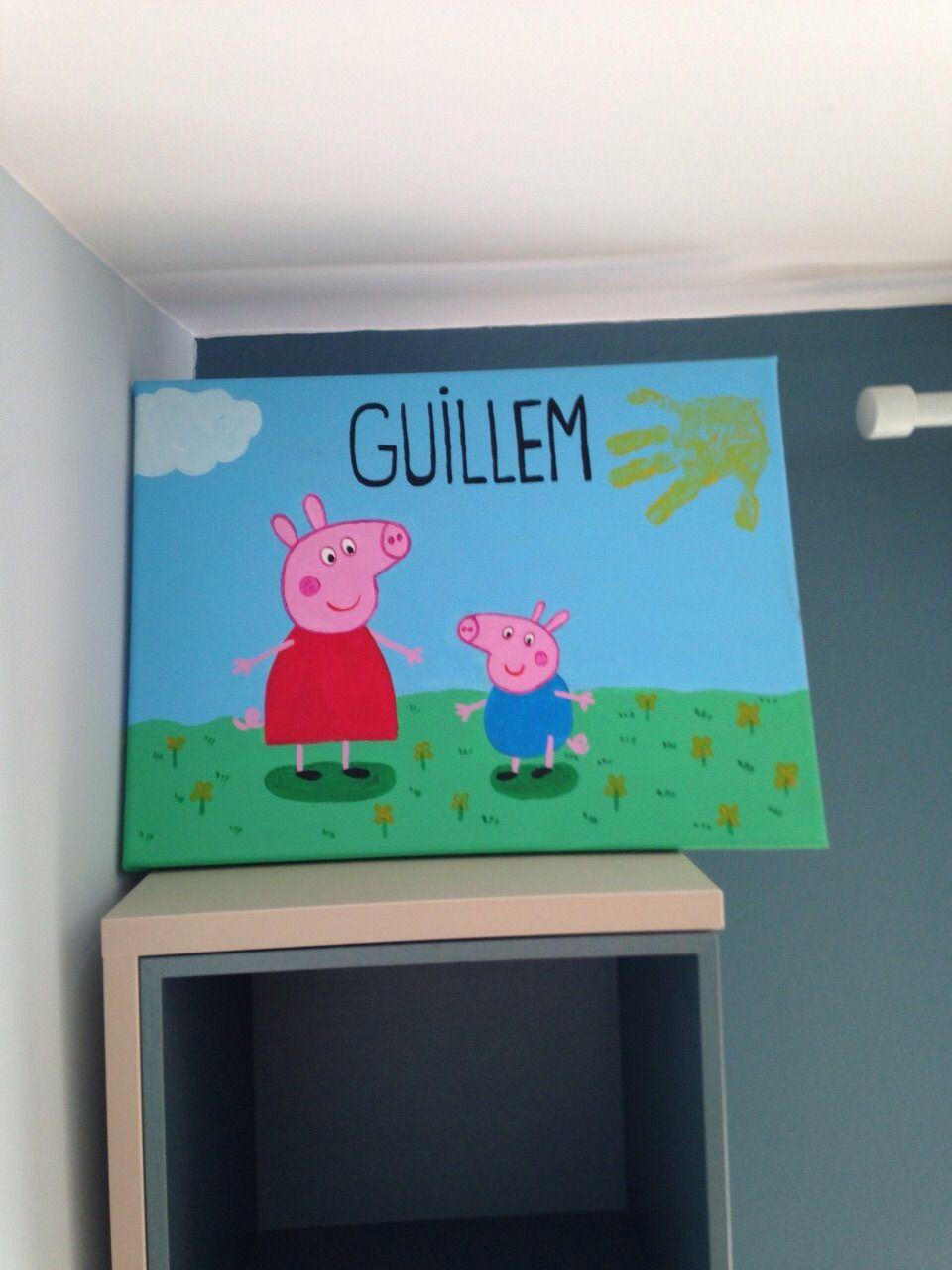 Cuadro infantil personalizado  Pepa pig