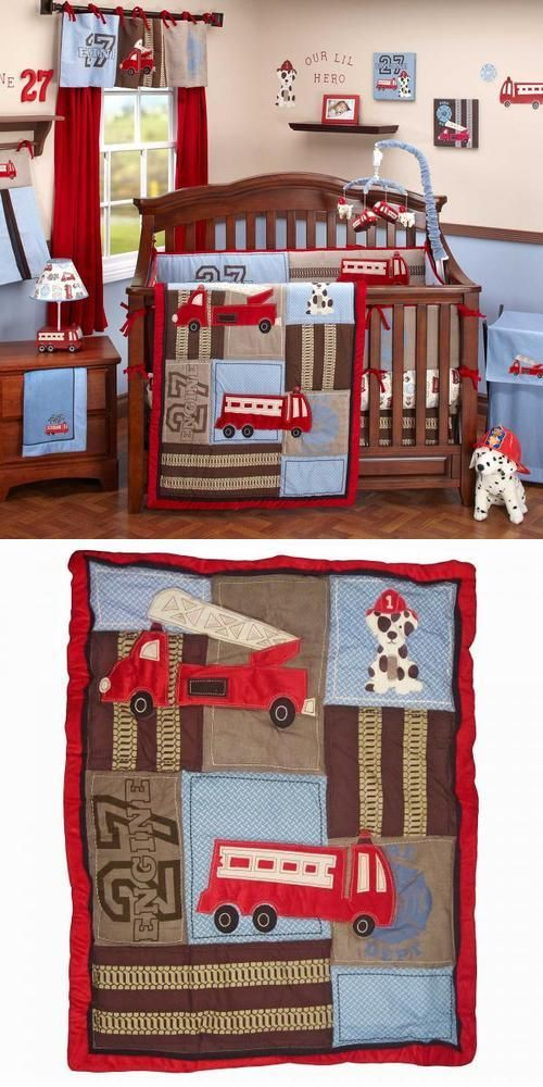 Fire Engine Themed Nursery Set Shared By Lion Truck