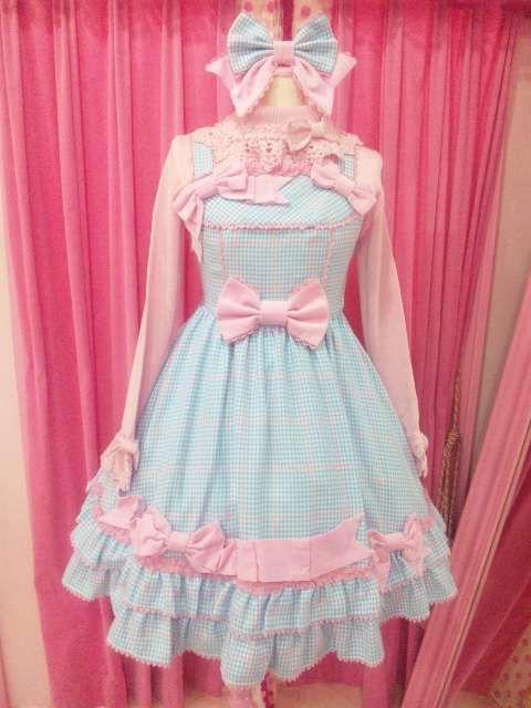 Sweet lolita dress. it is so cute that i would actually wear it !