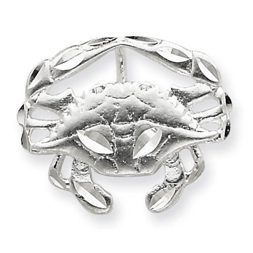 Sterling Silver Crab Slide Charm Real Goldia Designer Perfect Jewelry Gift goldia. $17.17