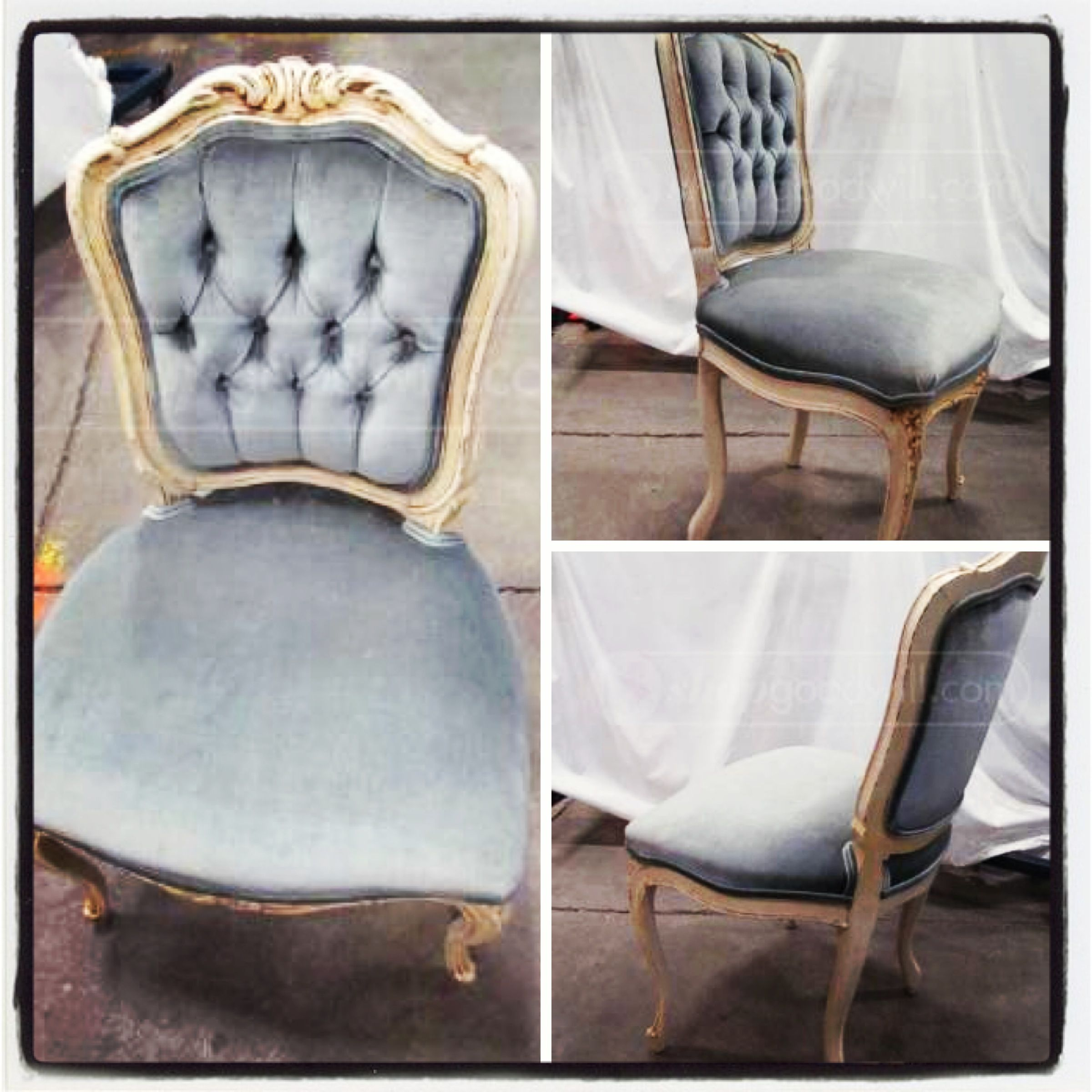 Powder Blue French Provincial Chair Office Pinterest