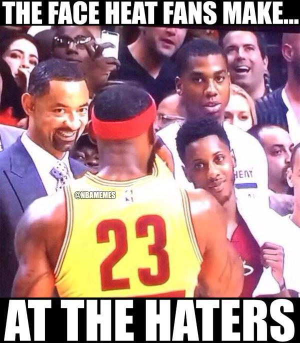 e4dce70b612f23df3d37644417e31a1c the face miami heat fans make at the haters lebron cavs,Heat Fans Meme