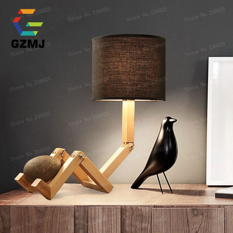 Diy Adjustable Led Table Lamp White Black Bedside Reading Study