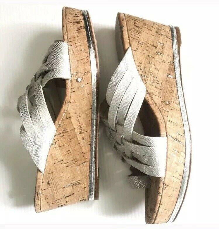 Donald J Pliner Cork Wedge Sandals #fashion #clothing #shoes