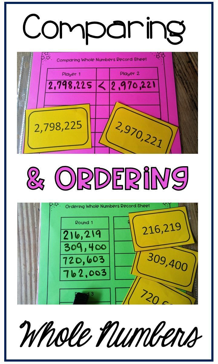 Help Your Students Understand How To Compare And Order Whole Numbers These Games Keep Your Students Engaged While Pr Guided Math Third Grade Math Number Games