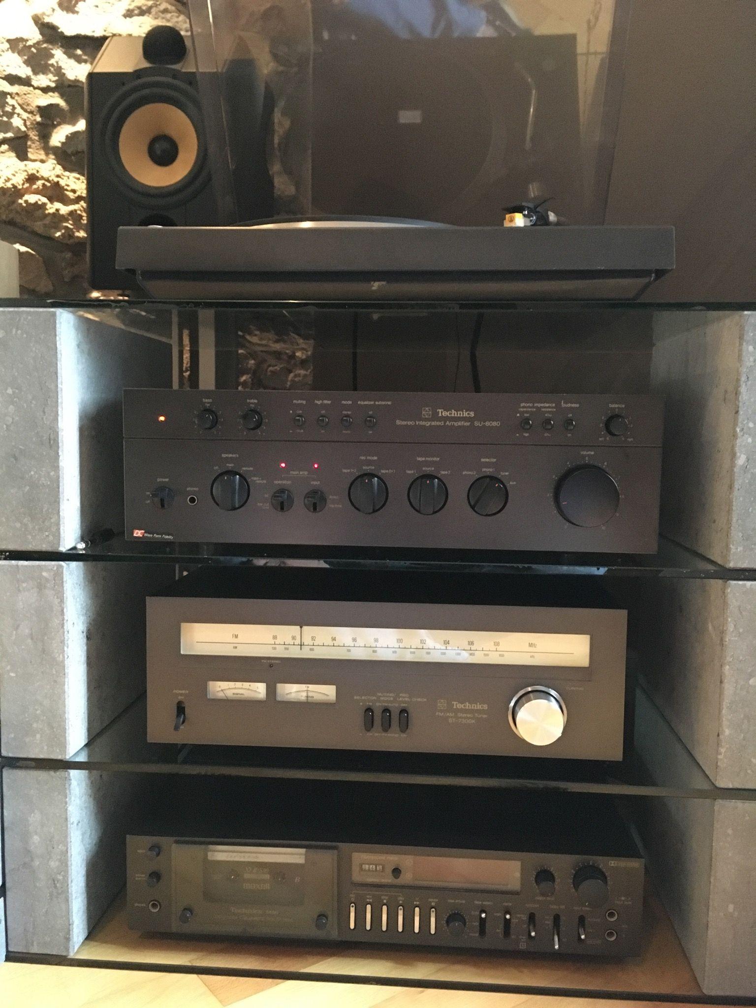 my b w cdm 1 1995 technics sl 1411 1978 technics su 8080 1977 technics st 7300k. Black Bedroom Furniture Sets. Home Design Ideas