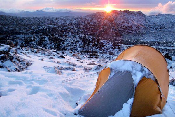 Sunrise and camping #Tasmania. Ben Lomond National Park #Australia