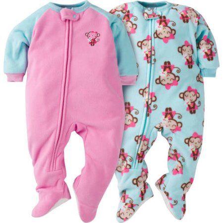 GERBER Girls Toddler 4-Pack Blanket Sleeper